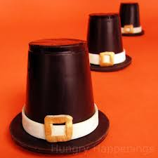 chocolate pilgrim hats festive thanksgiving desserts
