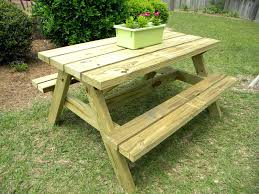 Wooden Picnic Tables With Separate Benches Outdoor Picnic Table And Bench Set Wooden Picnic Benches Wooden