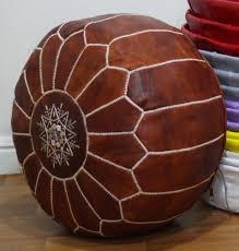 pouf marocain cuir moroccan leather poufs pouffe puffar buy brown leather pouf