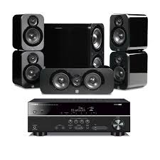 yamaha home theater speakers yamaha rx v381b u0026 q acoustics 3010 5 1 home theatre package