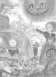 alice wonderland 1 film drawing deviantart