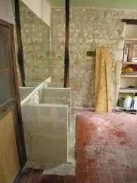 fabriquer meuble salle de bain beton cellulaire façade en cours de rénovation forum des mouleurs
