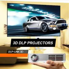 excelvan portable dlp android 4 4 wifi mini full 3d hd projector