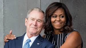 george w bush says friendship with michelle obama u0027surprised