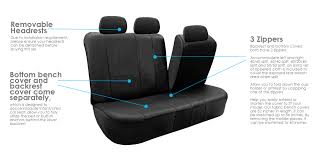 pu leather car seat covers w floor mats for split bench ebay