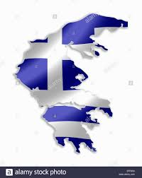 Country Flag Images Greece Greek Country Map Outline With National Flag Inside Stock
