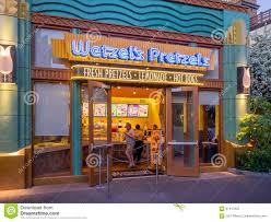 wetzel u0027s pretzels store at downtown disney editorial photography