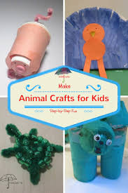 animal crafts for kids for playtime fun