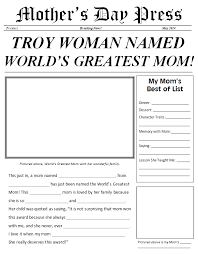 9 best images of newspaper template pdf mother u0027s day printable