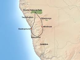 Namibia Map Namibia Self Drive Tour Itinerary Jenman African Safaris