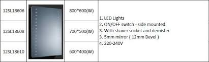 shower doors twelve sourcing limited illuminated led bathroom mirrors