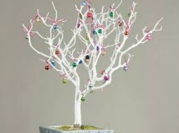 painted white manzanita branch decorative branches