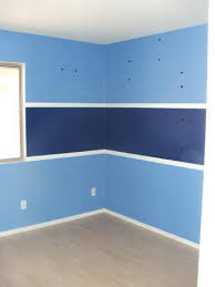 2 tone paint walls ugly stripes interior home house paint color