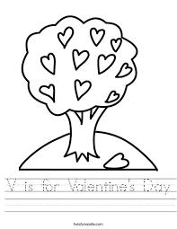 v is for valentine u0027s day worksheet twisty noodle