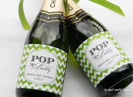personalized ring pops pop the bubbly mini chagne bottle labels custom wine