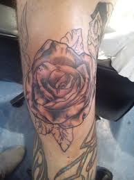 yellow rose tattoo on knee photos pictures and sketches