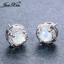 white opal earrings buy sterling silver opal jewelry and get free shipping on