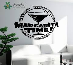 popular alcohol stickers buy cheap alcohol stickers lots from vinyl decal wall sticker margarita time bar alcohol drink glass kitchen decor mural home decoration vinyl