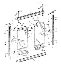 Shower Door Part Sears Tub Shower Door Parts Model 392681310 Sears Partsdirect