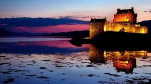 sunset scottish castle twilight castles sunsets nature sunset