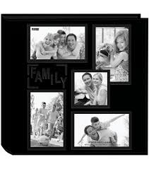 pioneer photo albums inc pioneer 5 up collage frame sewn embossed photo album 12 x12 black