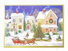 caspari cards kaderia rakuten global market christmas card christmas town