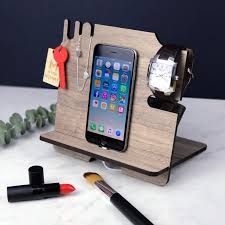 charging station iphone stand husband gift gift for him