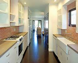 Small White Galley Kitchens Best Looking Galley Kitchen Design With Wooden Cabinet Idea Turn