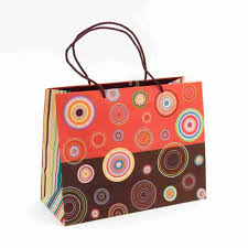concentric circles large gift bag
