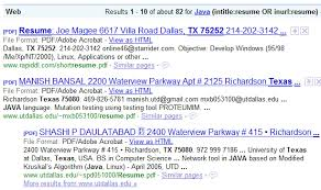 Sample Java Resumes by Challenging Google Resume Search Assumptions Boolean Black Belt