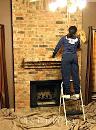 how to paint a brick fireplace u2013 the bajan texan