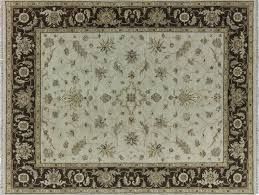 Ivory Area Rug 8x10 Serapi 8x10 Floral All Over Design Ivory Brown Hand Knotted Area
