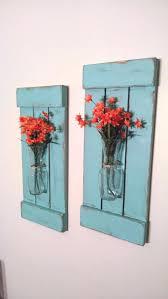Flower Decoration At Home Wall Ideas Diy Mason Jar Wall Decor Easy Wall Decor Crafts