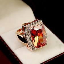 big crystal rings images Brilliant amazing super big champagne color cz stone ring square jpg