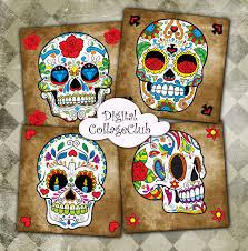 halloween coasters sugar skull digital coasters digital cards dia de los muertos