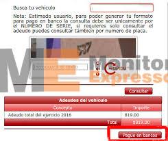 formato para pago de tenencia refrendo ejercicio 2016 sencillos pasos para pagar en banco el reemplacamiento michoacán