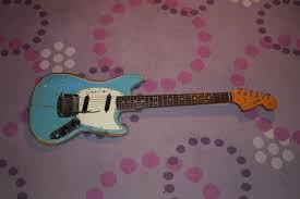 fender mustang players dan auerbach s 1965 fender mustang electric guitar drowning in