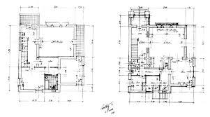 working drawing floor plan villa hayat muhammad working drawing ground floor and first floor