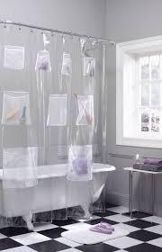 Shower Curtains In Walmart Maytex Mesh Pockets Peva Storage Shower Curtain Clear Walmart Com