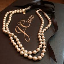 necklace pearls ribbon images J crew jewelry jcrew ribbon tie faux pearl necklace poshmark jpg