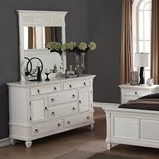 brilliant metallic white bedroom set 5pc global furniture