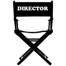 chaise de cinéma stickers déco autocollants vinyle adhésifs chaise de réalisateur