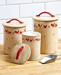 vintage style kitchen canisters amazon com vintage rooster country style kitchen canisters