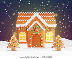christmas gingerbread house gingerbread house christmas backgound stock vector