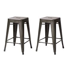 fresh idea to design your 24inch winston x back swivel counter linon home decor image adeco 24inch matte metal glossy metal tolixstyle chair counter stool set