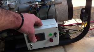generator converted to auto start stop charging a battery bank