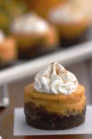 mini pumpkin cheesecake with gingersnap crust white lights on