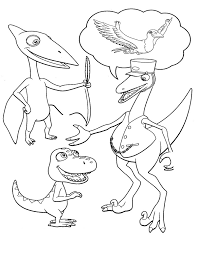 dinosaur train coloring pages buddy conductor coloringstar