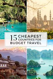 The 15 cheapest countries to visit for budget travel pinterest