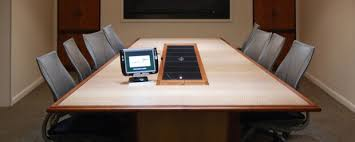 conference table with recessed monitors conference table power data options paul downs cabinetmakets